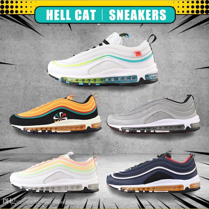 97 Nero Proiettile 2020 Sean Wotherspoon 97s donne Calzature sportive da jogging le scarpe da tennis a piedi Escursioni cuscino scarpe da corsa all'aperto Chaussures