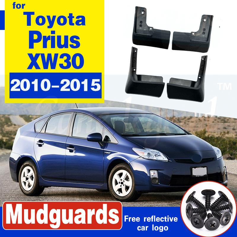 Satz Molded Auto Schmutzfänger für Toyota Prius XW30 2010 2011 2012 2013 2014 2015 Mudflaps Spritzschutz Kotflügel Kotflügel