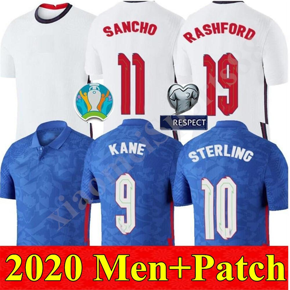 2020 2021 홈 원정 잉글랜드 축구 유니폼 (20 개) (21) camisetas 드 푸 웃 국가 대표팀 STERLING RASHFORD KANE 쌀 산초 축구 셔츠