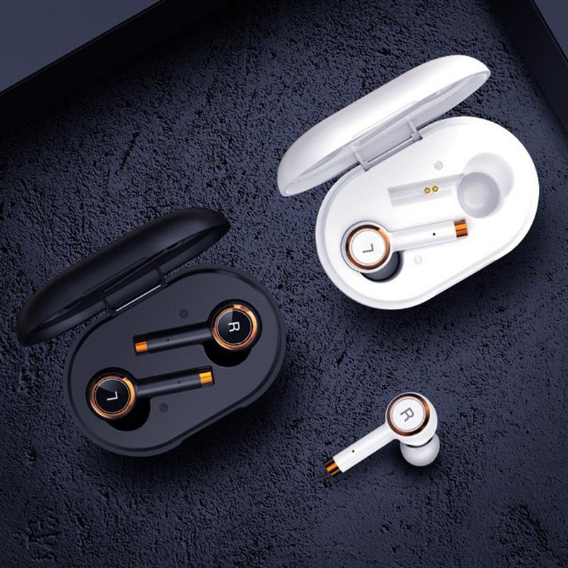 New L2 TWS fone de ouvido sem fio Bluetooth 5.0 Earbuds inteligente Binaural Noise Reduction Sports Headset com carregamento Box