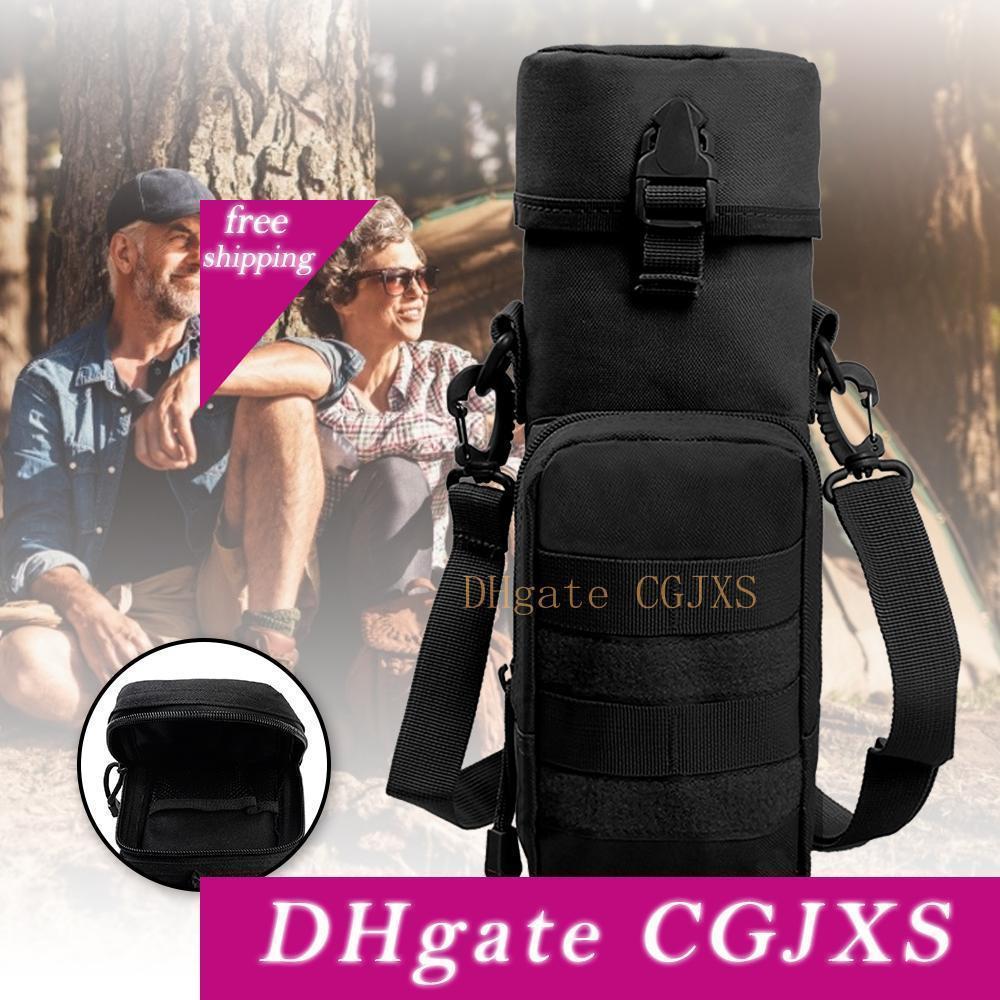 Garrafa 600d Nylon Militar Molle Tactical Água Chaleira bolsa com alça multi -Propósito suporte para garrafa Para Acampar Caminhada Viagem