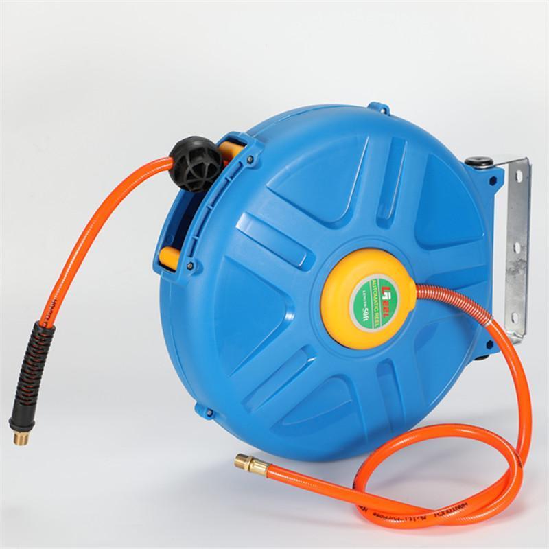 dévidoir automatique de l'air avec 50 rétractable Pied flexible, ID 8 mm 12mm diamètre extérieur adapté pour lave-auto HK3