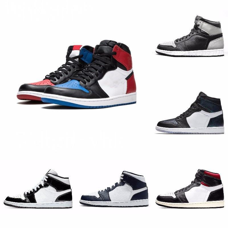 Nueva 1s-top 3 del dedo del pie roto OG Bred prohibidos juego real sombra zapatos zapatillas de deporte de alta calidad con la caja Hombres 1s J # 08-269