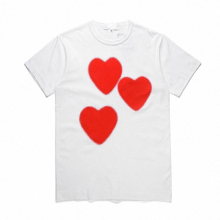 caldo donne magliette di marca 2020 nuovo arrivo camice coppie casuali estate manica corta Tees modo del cuore della stampa divertente Top Tee MOLTO CALDO 2zqh #