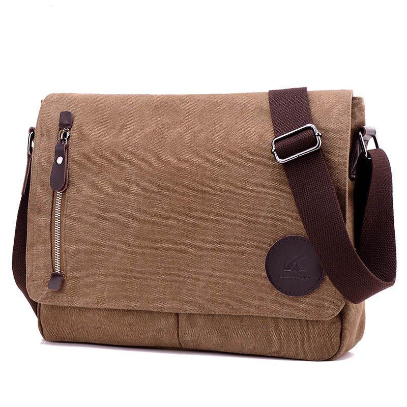 2020 Men bag vintage Mens canvas Messenger bags luxury Designer laptop briefcase File package Travel Leisure bags
