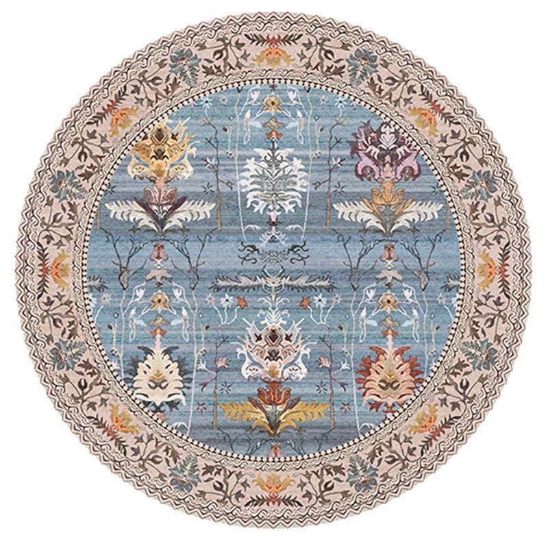 Indien Mandala Marokko Runde Teppich für Wohnzimmer Retro American Style Rund Teppich Bodenmatte Blumen Moderne Kinder Persischen Teppichs