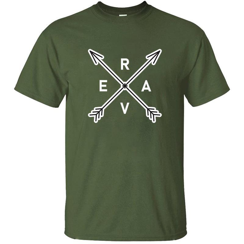 A nova moda Rave Arrows Camiseta Letter divertidos da Rodada Collar Streetwear Harajuku t-shirt adultos 2020 Camisetas masculinas