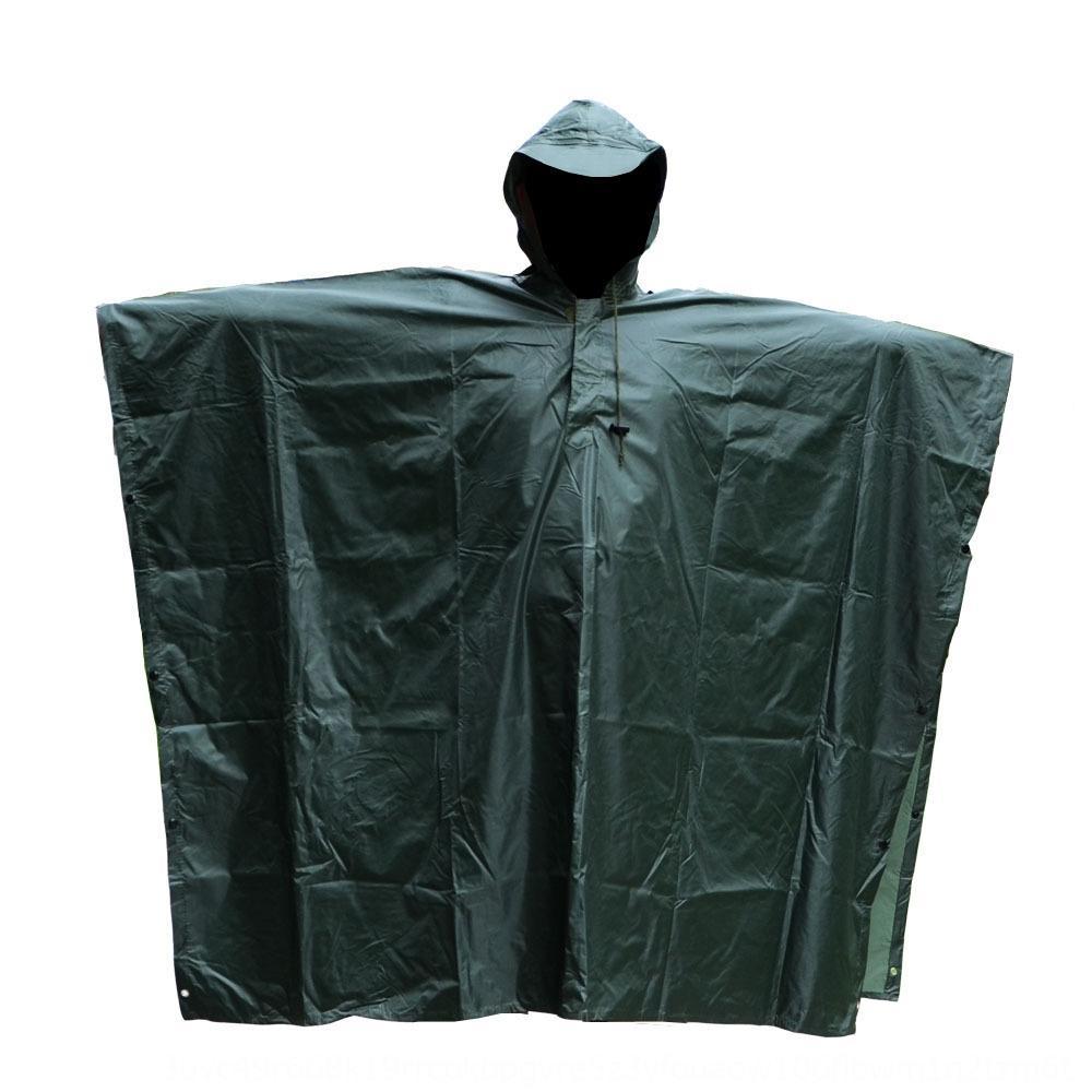 7a2Nt alpinismo al aire libre capa del poncho de una sola pieza del tamaño impermeable jersey deportes media de camuflaje para adultos