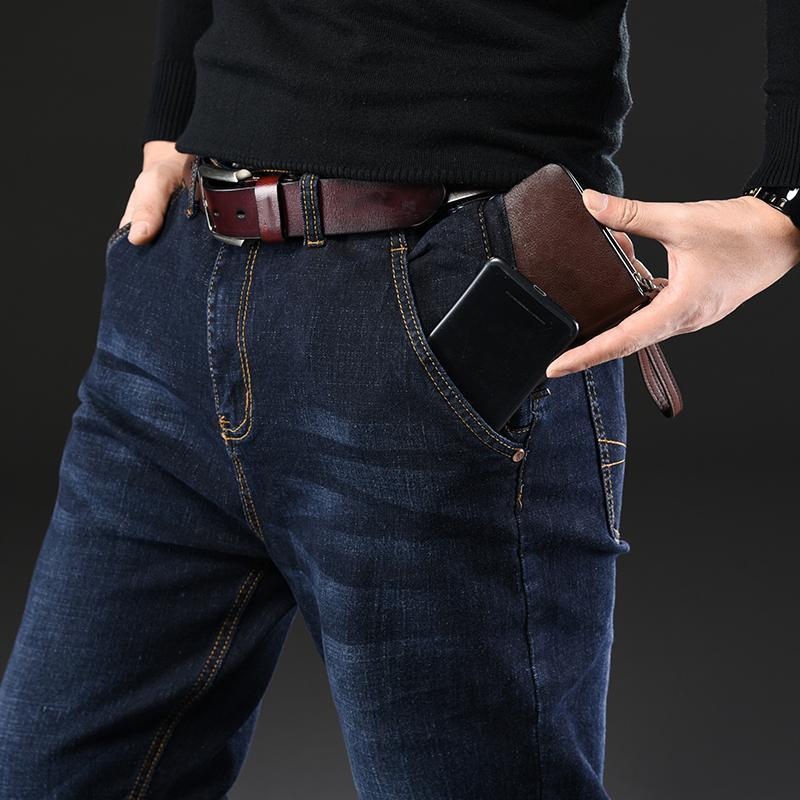 Masculina, jeans para hombres los hombres de Homme Jean Denim Pantalones holgados pantalones rectos del motorista cargo ocasional militar táctica muchos multi-bolsillo Negro MX200814