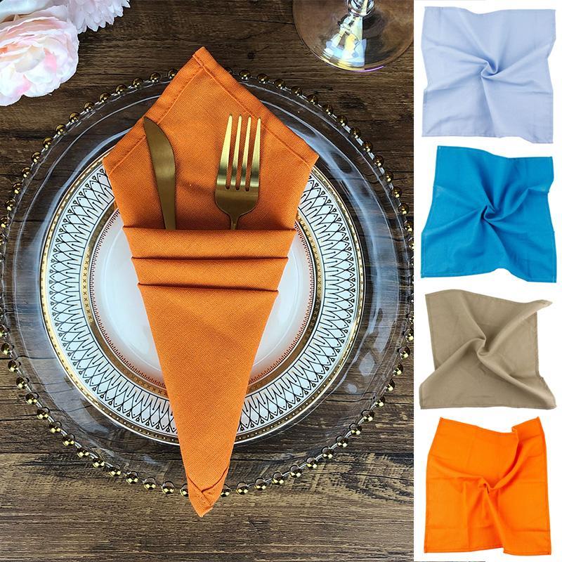 40x40cm Tabella di nozze tovaglioli di cotone panno di tela tovagliolo Partito Coppa Cucina Piatti Tovaglioli decorativi