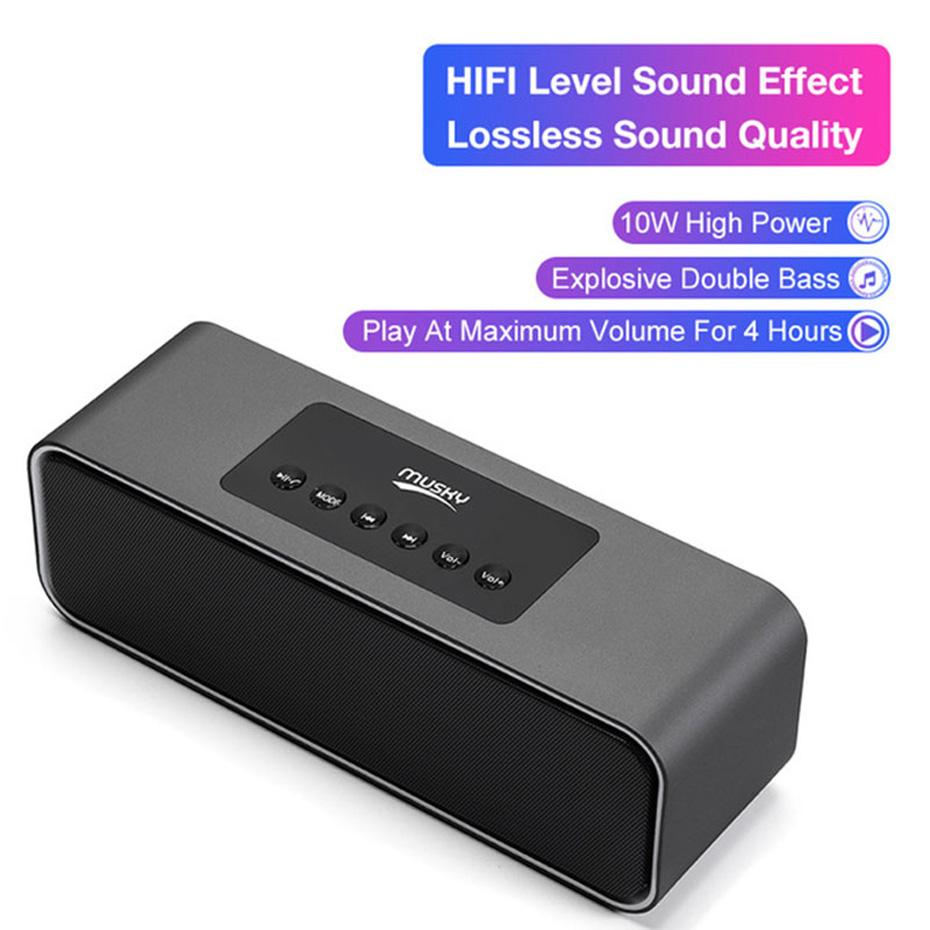 MUSKY DY22L Wireless Bluetooth Speaker LED Portable Subwoofer Alarm Clock Sound 3D Stereo Music Surround Mini Speakers 2000mAh DY22