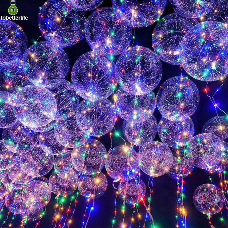 БОБО шарика водить струна воздушный шар света Прозрачный светодиодный шар свет на Рождество Halloween Party Свадьба украшение дома