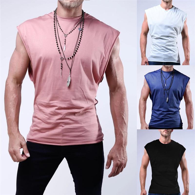 Funzionamento di ginnastica Jogging Tees Pure Casual Colore fitness Mens magliette senza maniche Sport Mens Designer magliette traspirante