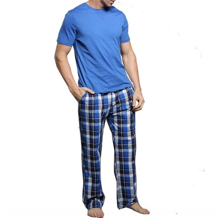 Homme à manches courtes hommes pour pyjama costume printemps été pantalon pantalon à manches courtes et pyjamas costume pour le printemps et l'été 71ejp