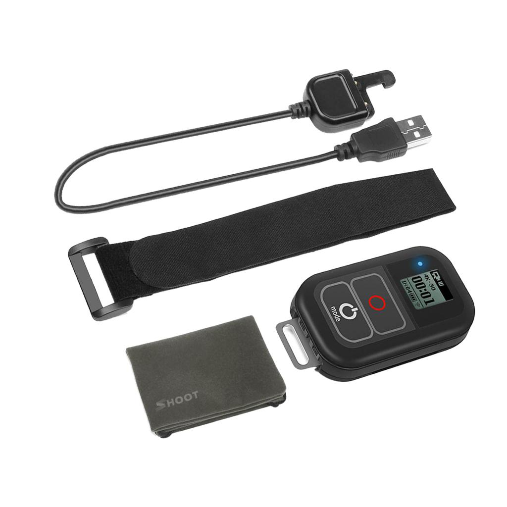 Waterproof WiFi Remote Control with Charging Cable & Strap for GoPro Hero 7 6 5 4 Session Accessory