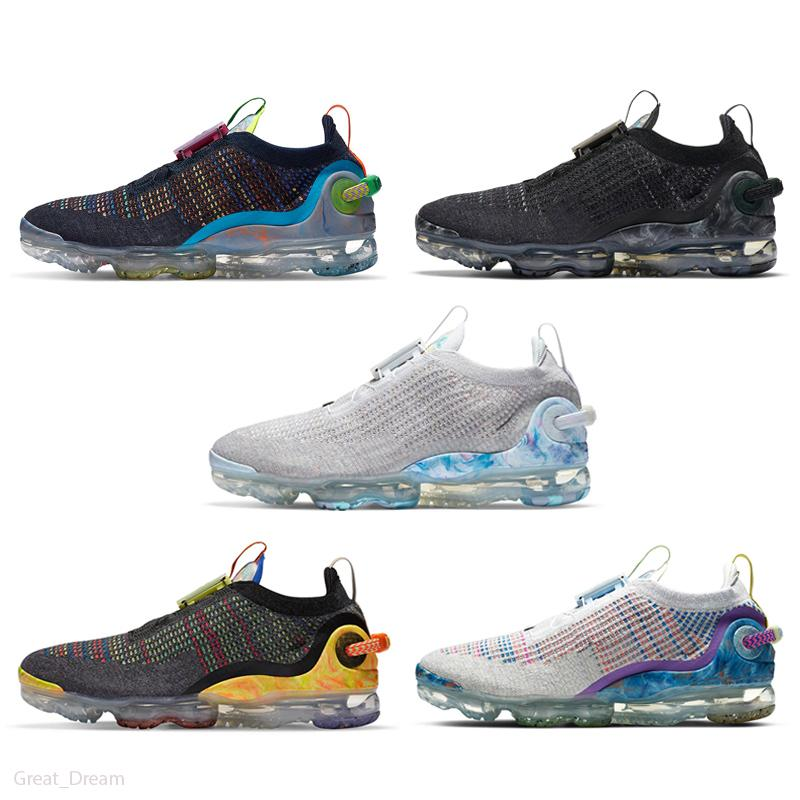 Nike Air VaporMax 2020 FK 2020 Knit 2.0 Triple Black weiß CNY orca Fly 1.0 Laufschuhe Pure Platinum Diffused Taupe Jacke Pack Stylisten Schuhe Sneakers
