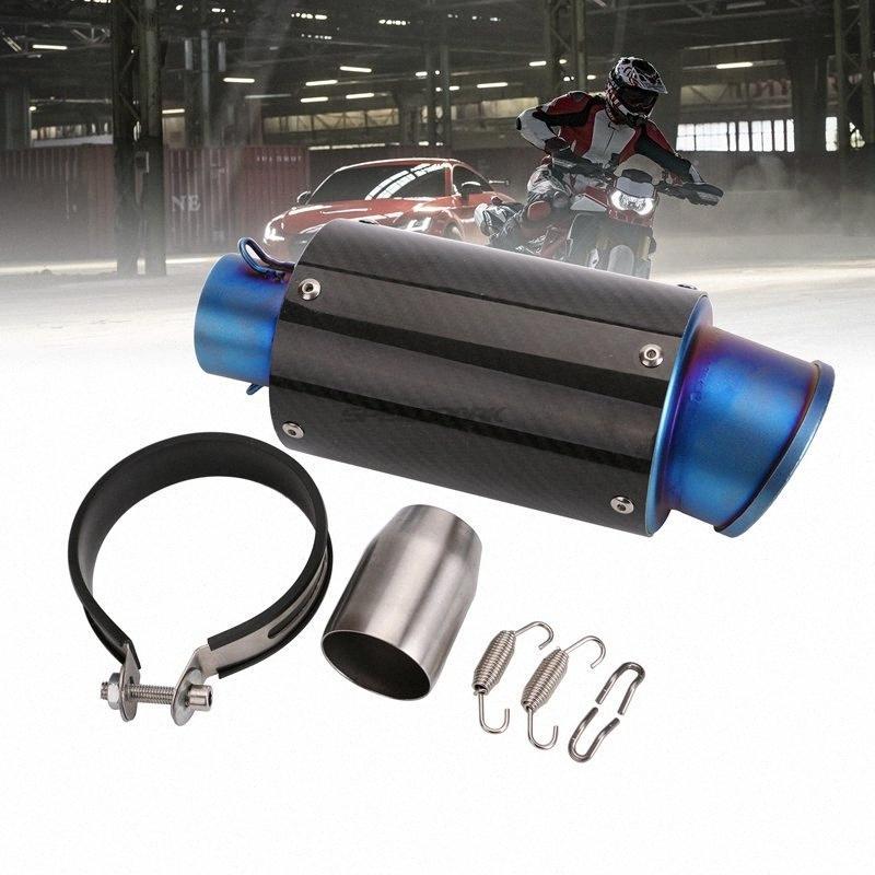 51 milímetros de entrada da motocicleta Universal Exhaust Muffler tubulação de fibra de carbono que compete a motocicleta Tubulação de exaustão do silencioso de escape AR003 p7m2 #