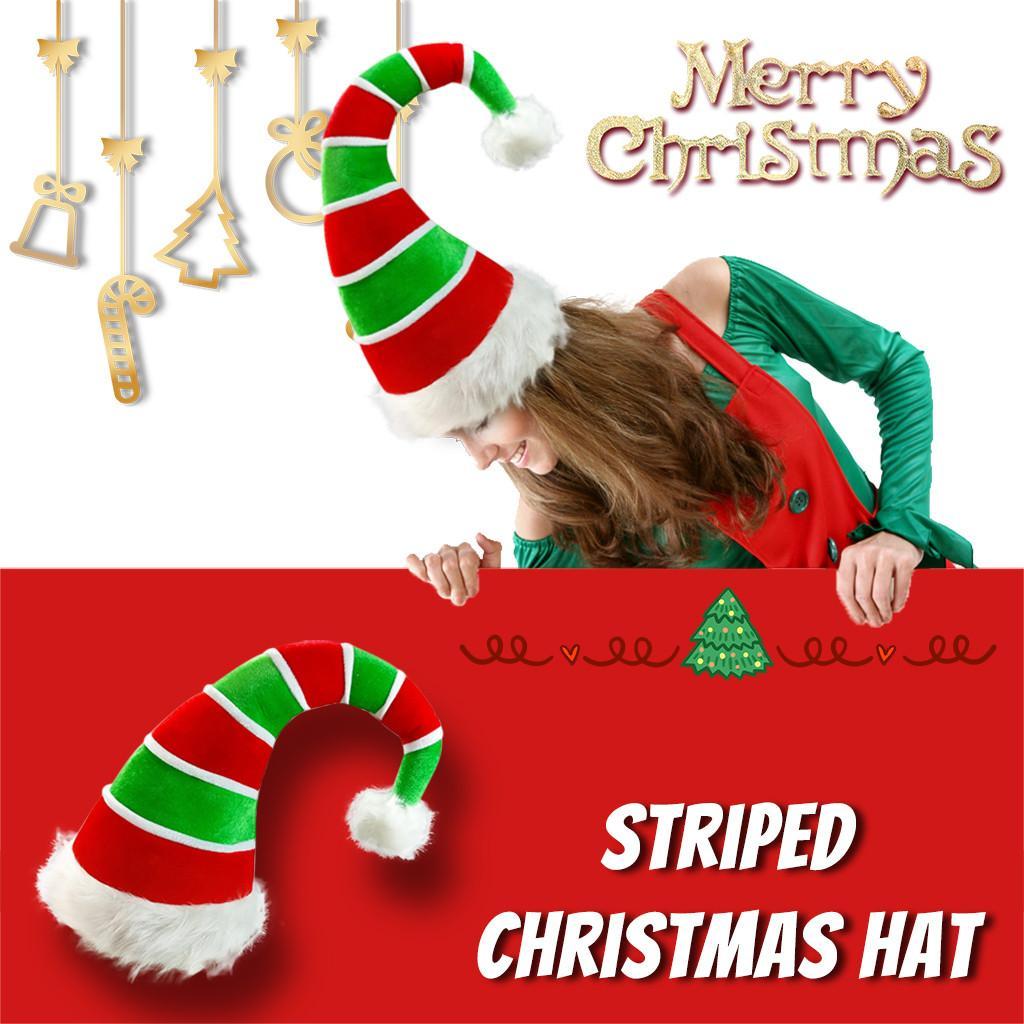 Navidad caliente y cómodo La nueva año 2021 accesorios de decoración del hogar Dicer del paño del terciopelo sombrero de la Navidad del payaso Sombrero