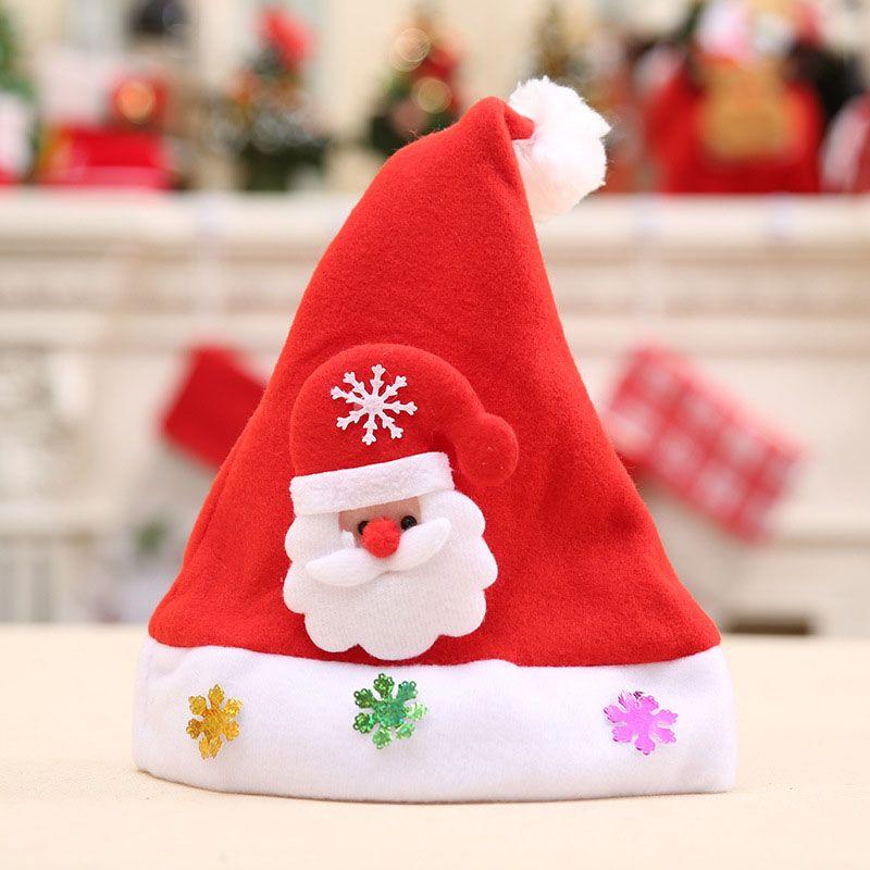 12PCS rosso pupazzo di neve alci cappello Santa Natale decorazioni dell'albero di Natale a casa 2.020 felice regalo di Capodanno Adatto per adulti bambine