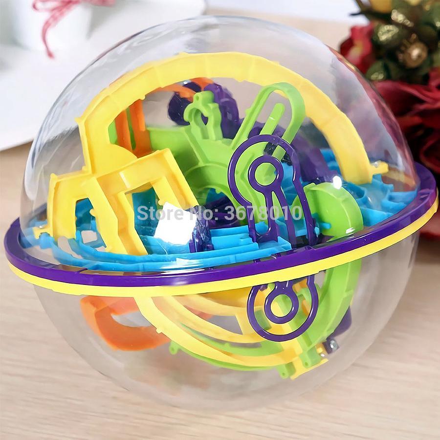 Интеллект 3D лабиринт шар, содержащий 158 Оспаривание Барьеры Independent Play для детей взрослых, Perplexus Puzzle IQ Баланс Игрушки Y200317