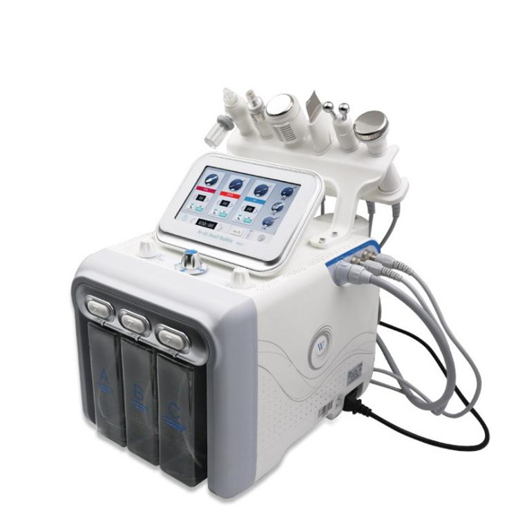6 in1 H2 O2 Hydra Peel Dermabrazyon Yüz Makine Cilt Temizleme Peel Cilt Bakımı Oksijen Hidro Dermabrazyon Makinası