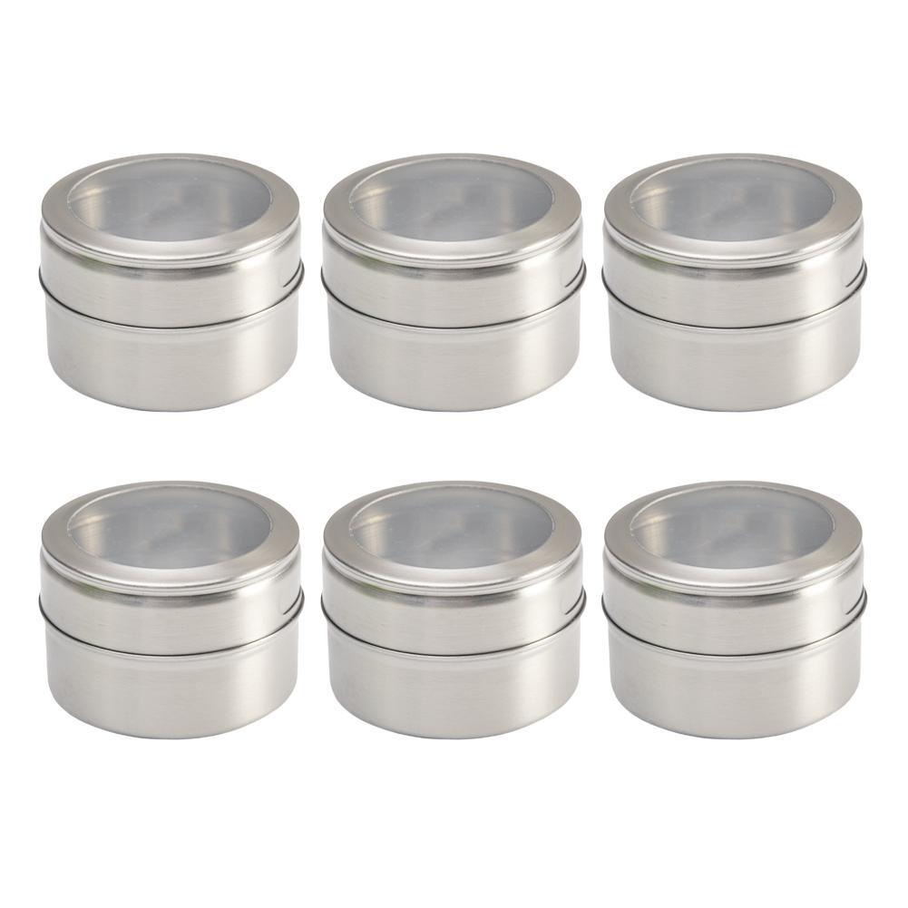 Konteyner Baharat Teneke Paslanmaz Çelik Mutfak Pişirme 6 / 12x Manyetik Baharatlıklar