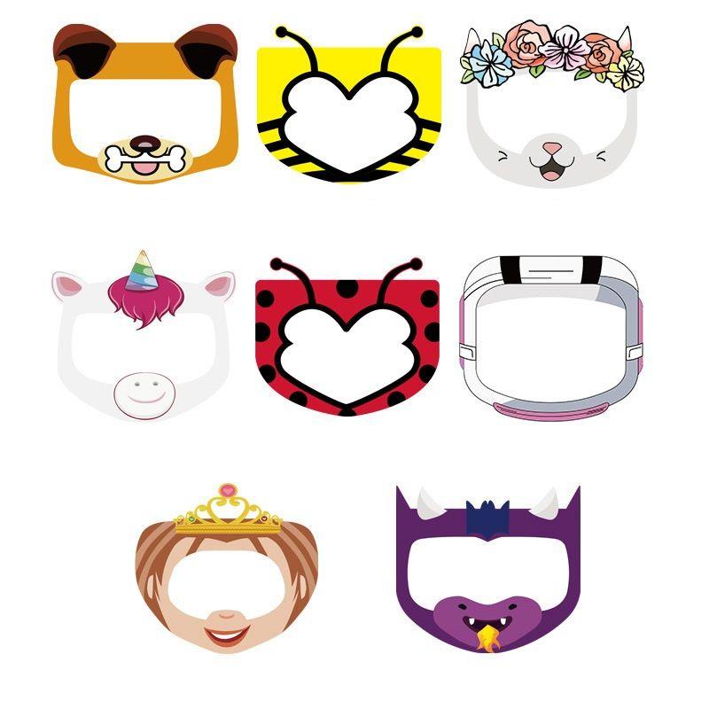 Cartoon-Party-Masken Kinder Gesichtsmaske Schutzgesicht Transparente Gesichtsschutz für Kinder Teen Netten Wiederverwendbare