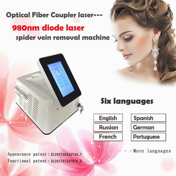 15W oder 30W 980nm Dioden-Laser-Vascular-Abbau-Maschine Rote Blutgefäße Spinnen-Vein-Abbau-Maschine DHL-freies Verschiffen