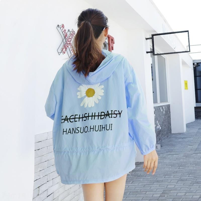 PaODM 2020 женщин печати пальто солнцезащитного крема одежды лето PLgyj нового корейский стиль модная одежда маргаритка потерять тонкое случайное все спички пальто солнца