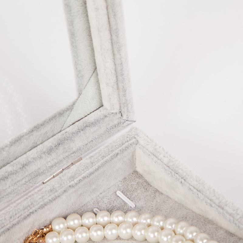 Flanelle stockage collier de bijoux avec boucle d'oreille pendentif anneau de couvercle de la boîte Pendentif boîte de rangement des bijoux CJIZW