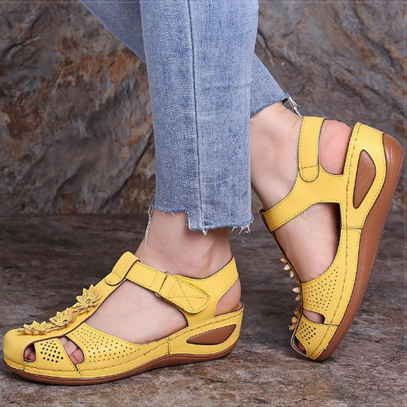 VIP Женщины сандалии клинья обувь на каблуках сандалии Chaussures Femme Мягкие донные платформы сандалии гладиаторов Повседневная обувь