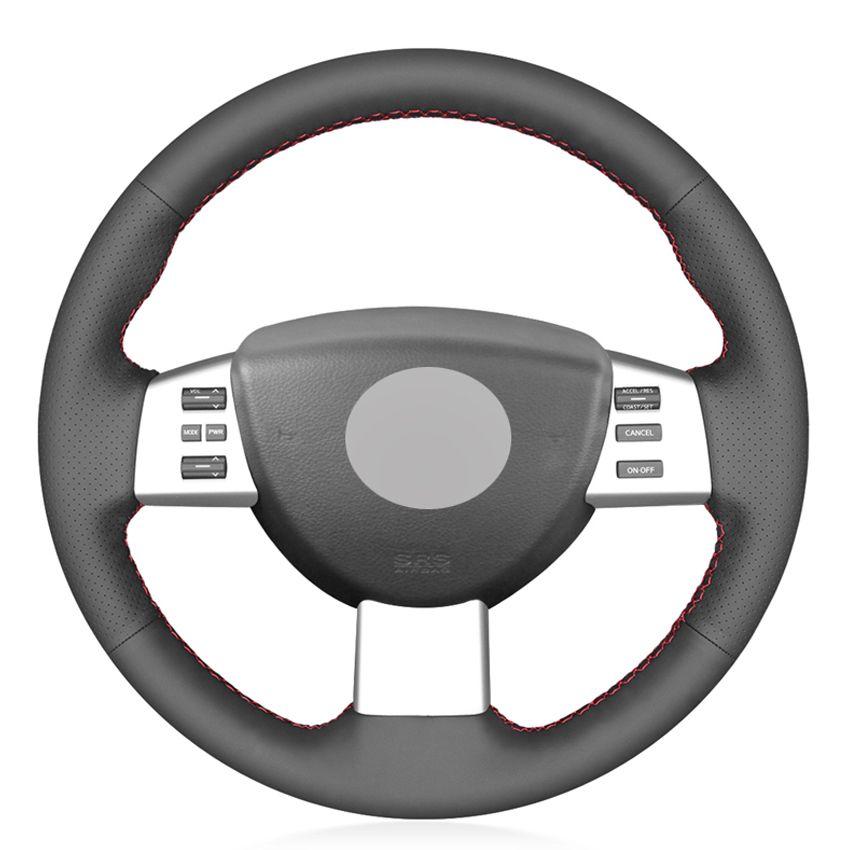 Черный PU искусственной кожи Рулевое управление DIY колеса автомобиля Крышка для Nissan Quest 2004-2010 Altima 2005-2009 Murano 2003-2008 Maxima 2004-2008