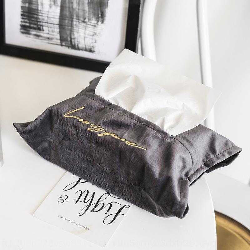 copertura di carta velluto SUREON livingTable del tessuto della scatola del tessuto ripostiglio WC cartable casa nordica