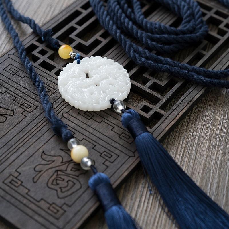 stile 05u4d cinese elementi cinesi Han abbigliamento costume antico costume antico che circonda gli uomini e donne accessori vita una cinghia Yupin