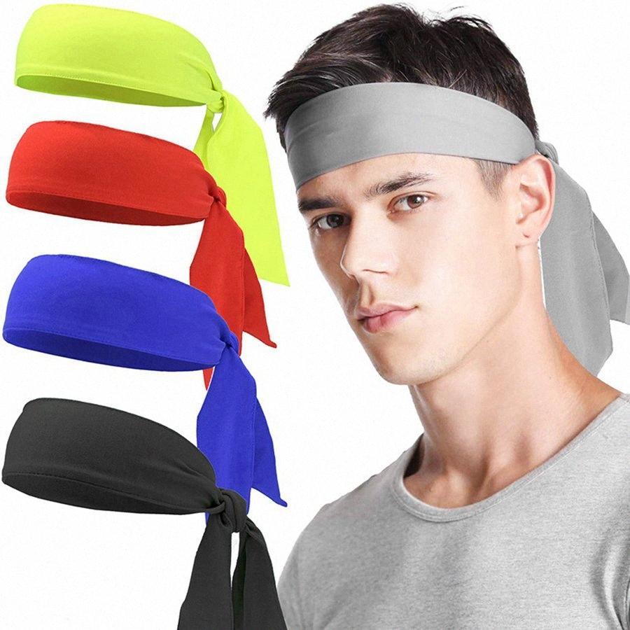 Açık Spor Tenis Bisiklet Kafa Kafa Bandı Erkekler Kafa bandı Parti Favor RRA3100 DrBo # Katı Renk Korsan Kafa Unisex Egzersiz Koşu