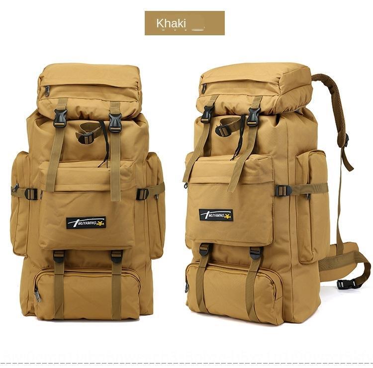 sacchetto di alpinismo all'aperto zaino 70L grande capacità mimetica campeggio di viaggio dei bagagli sacchetto di alpinismo zaino da escursione