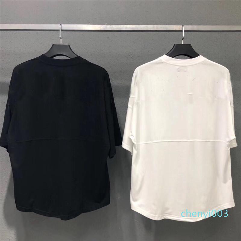 2020 camiseta para el verano de los hombres MES camiseta marea de la moda camisas de impresión de letras de los hombres ocasionales de las mujeres de cuello redondo caliente de la venta del tamaño S-XL C03