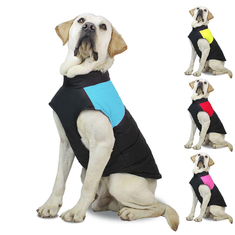 Envío gratis chaqueta para perros abrigos de invierno suéter para el clima frío reversible suéteres de perro caliente a prueba de agua para pequeños perros grandes grandes L-0020