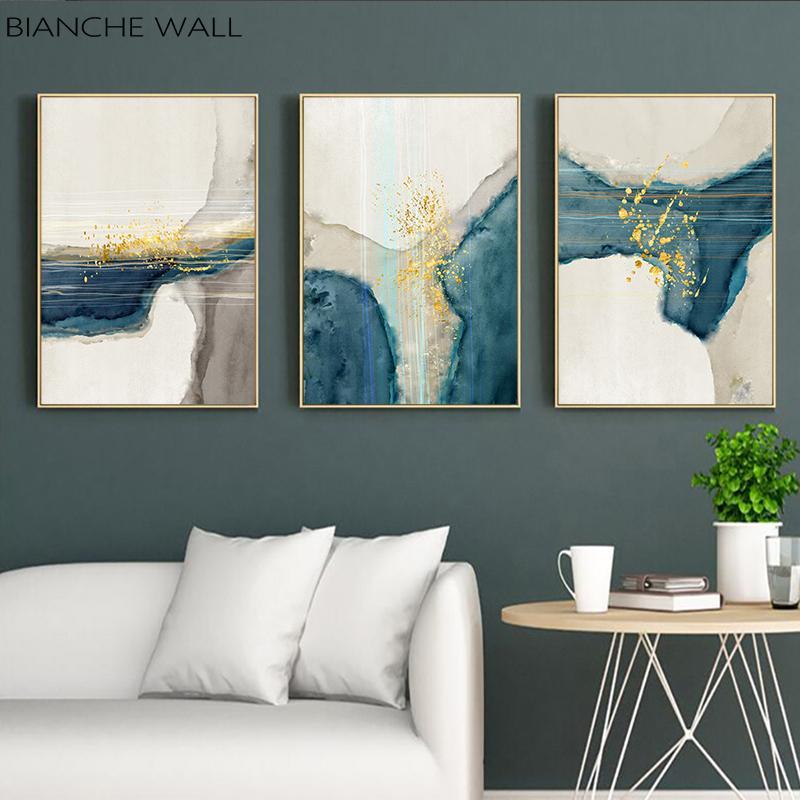 Forma astratta Wall Art Canvas Poster Nordic minimalista stampe su tela pittura decorativa Immagine moderna decorazione del salone