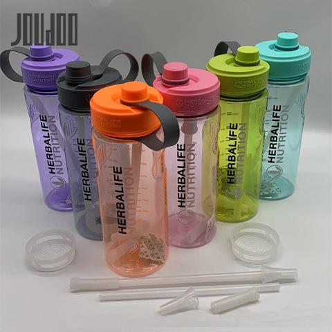 Venta caliente de la botella de agua para la proteína de bebida deportiva de la botella de la coctelera Herbalife de Nutrición de plástico botella de agua potable directa