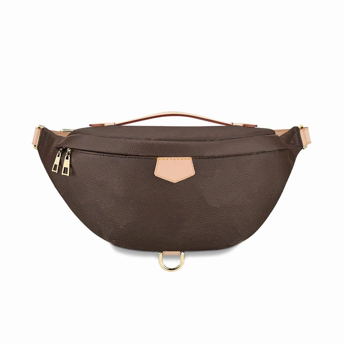 En Kaliteli Moda PU Deri Kahverengi Çiçek Çanta Kadın Çanta Tasarımcısı Fanny Paketleri Ünlü Bel Çanta Çanta Bayan Kemer Göğüs Çantası Cüzdan