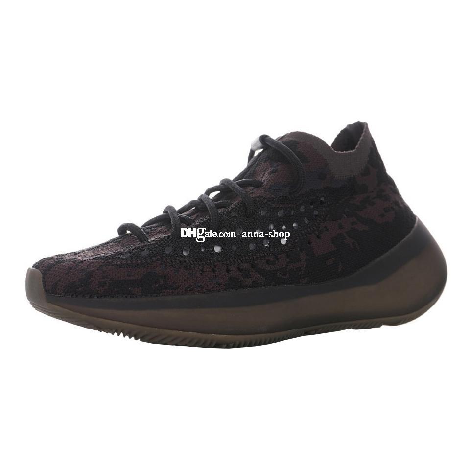 Kanye West 380V1 Aumenta Onyx Sneakers per Scarpe kanyewest Sneaker Mens di sport degli uomini scarpa da corsa delle donne Womens formatori Man Training