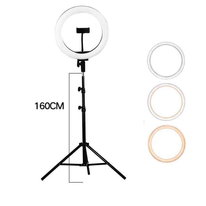 사진 LED 셀카 링 라이트 10 인치 26cm 램프 카메라 폰 링 밤 플래시와 160CM는 메이크업 비디오 라이브를 위해 삼각대와 모노 포드 스탠드