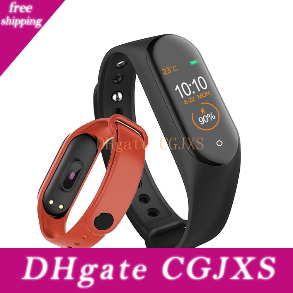 M4 Смарт диапазона 4 Фитнес Tracker Часы Спорт Браслет сердечного ритма артериального давления Smartband Монитор здоровья Wristband Pk Mi Группа 4 3
