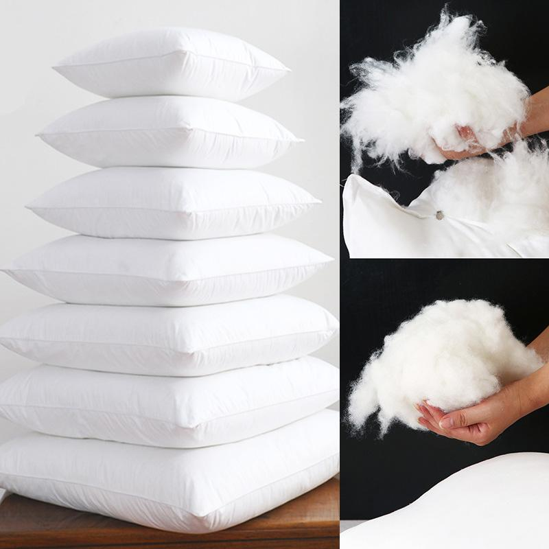 Yumuşak Dolum Aşağı Alternatif Sandalye Yatak Koltuk Minderi yatak yastık için Yastıklar Kare Beyaz Yastık Çekirdek İç Natural atın