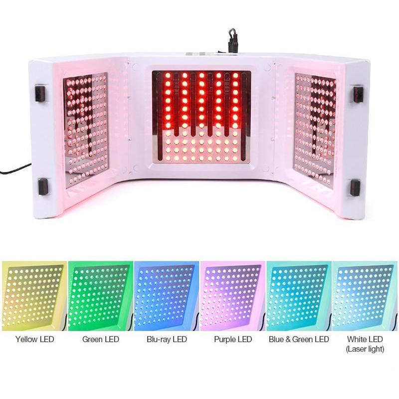 최신 7 색 LED PDT 라이트 스킨 케어 뷰티 머신 얼굴 스파 PDT 치료 피부 회춘 여드름 삭감 안티 - 주름 제거