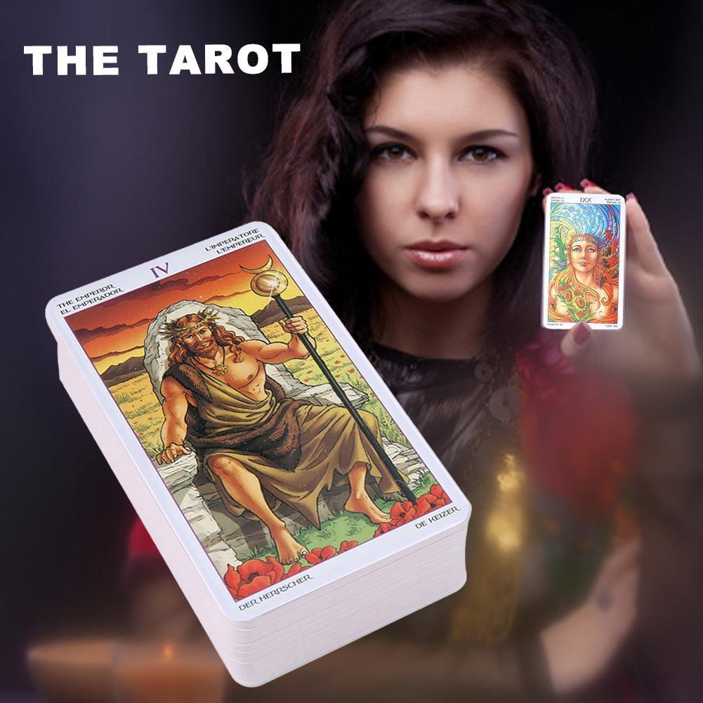 Kart Oyunu Oyunları Tarot Kartları Tekerlek İngilizce Yıl İçin Eğlence Hediyesi Of Aile Kartları Tarot Oracle Partisi 78pcs Tablo tLxBb Çalma