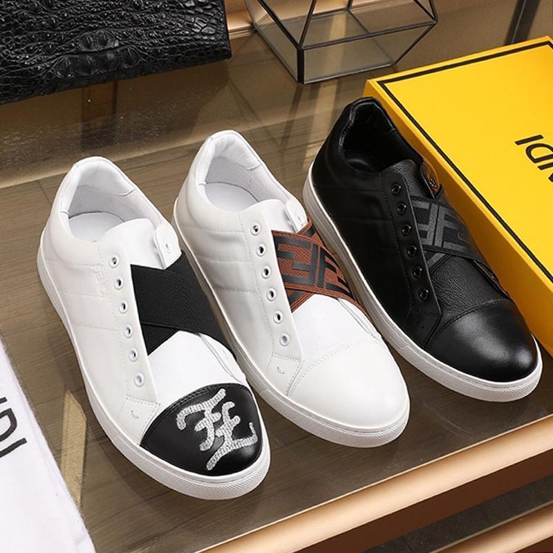 Scarpe nuovi Mens respirabili degli uomini di modo della piattaforma delle scarpe da tennis della piattaforma di origine Box Classic Appartamenti Nuova Riefsaw bianchi slip in pelle -ons