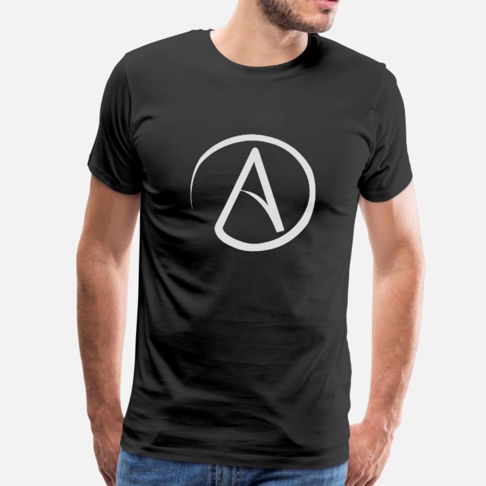 ateist ateizm atheismus t gömlek erkekler Özel Kısa Kollu S-XXXL Harf Grafik Komik yaz Orijinal gömlek