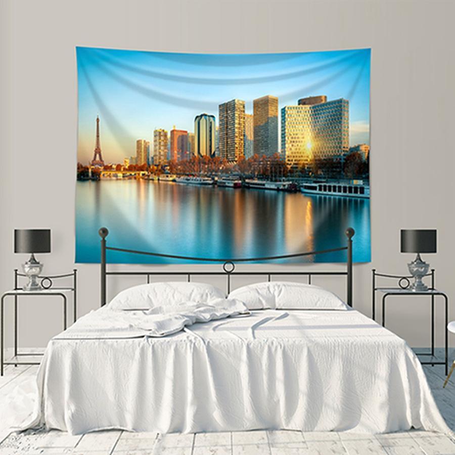 Polyester 4 Size Home decorativa estrelado Tapeçarias Sala Quarto fundo Murais de impressão Cenário Plantas Tapestry DH0940-4 T03